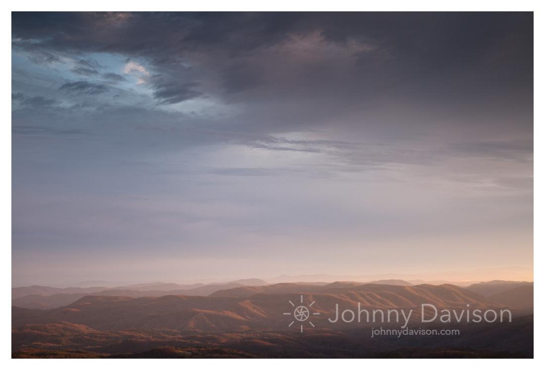 Ridges, Sunset, from the Blue Ridge Parkway, NC