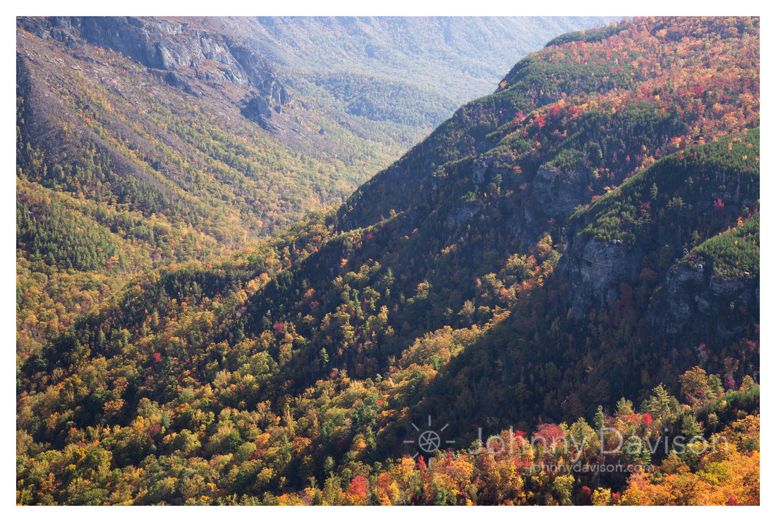 Afternoon Shadows, Fall Color, Linville Gorge Wilderness Area, Pisgah National Forest, NC
