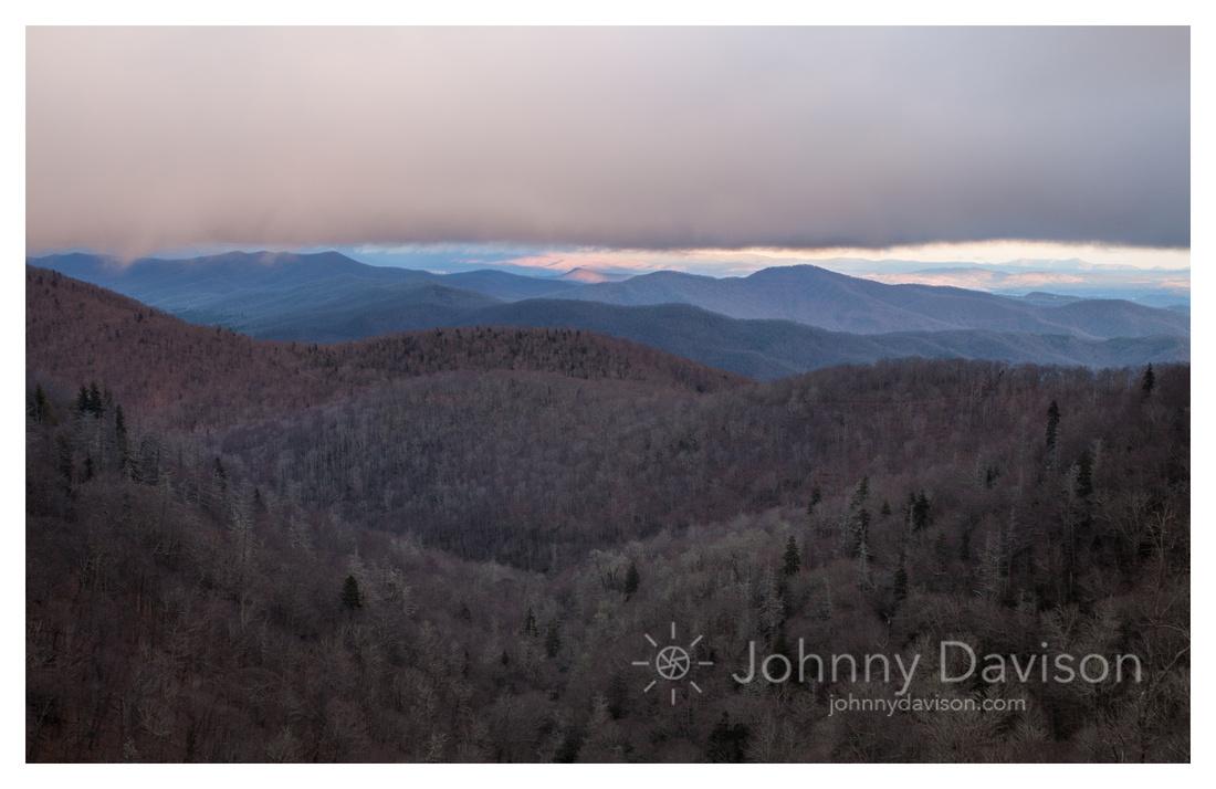 Cloud Cover, Sunset, Winter, Blue Ridge Parkway, NC