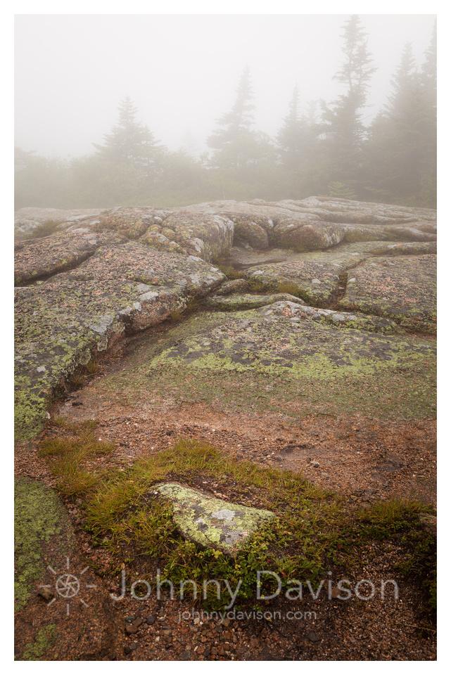 Granite, Mist, Cadillac Mountain, Acadia National Park, ME