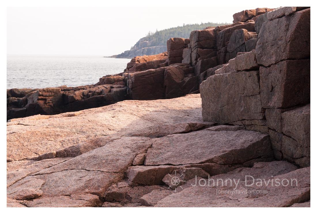 Weathered Rock, Seashore, Thunder Hole, Acadia National Park, ME