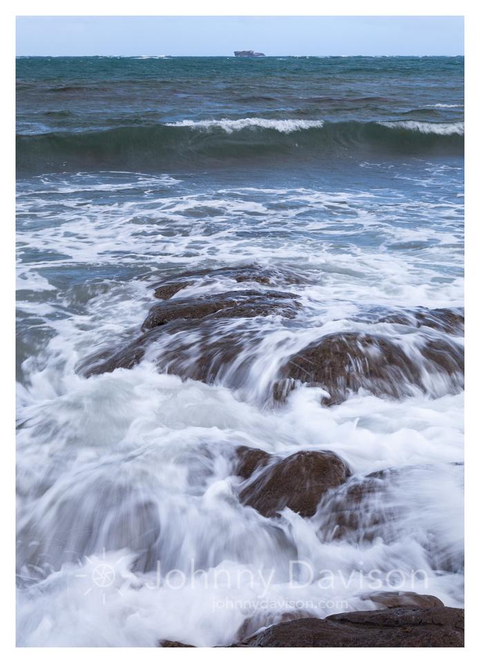 Rocks, Waves, Sea Stack, Northeastern Shore, St. Lucia