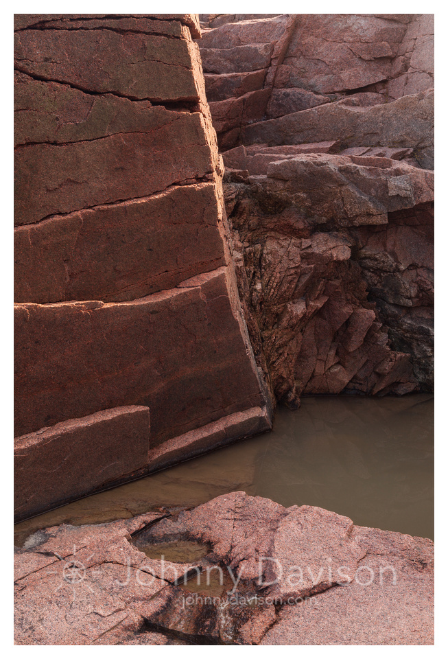 Rock, Puddle, Acadia National Park, ME