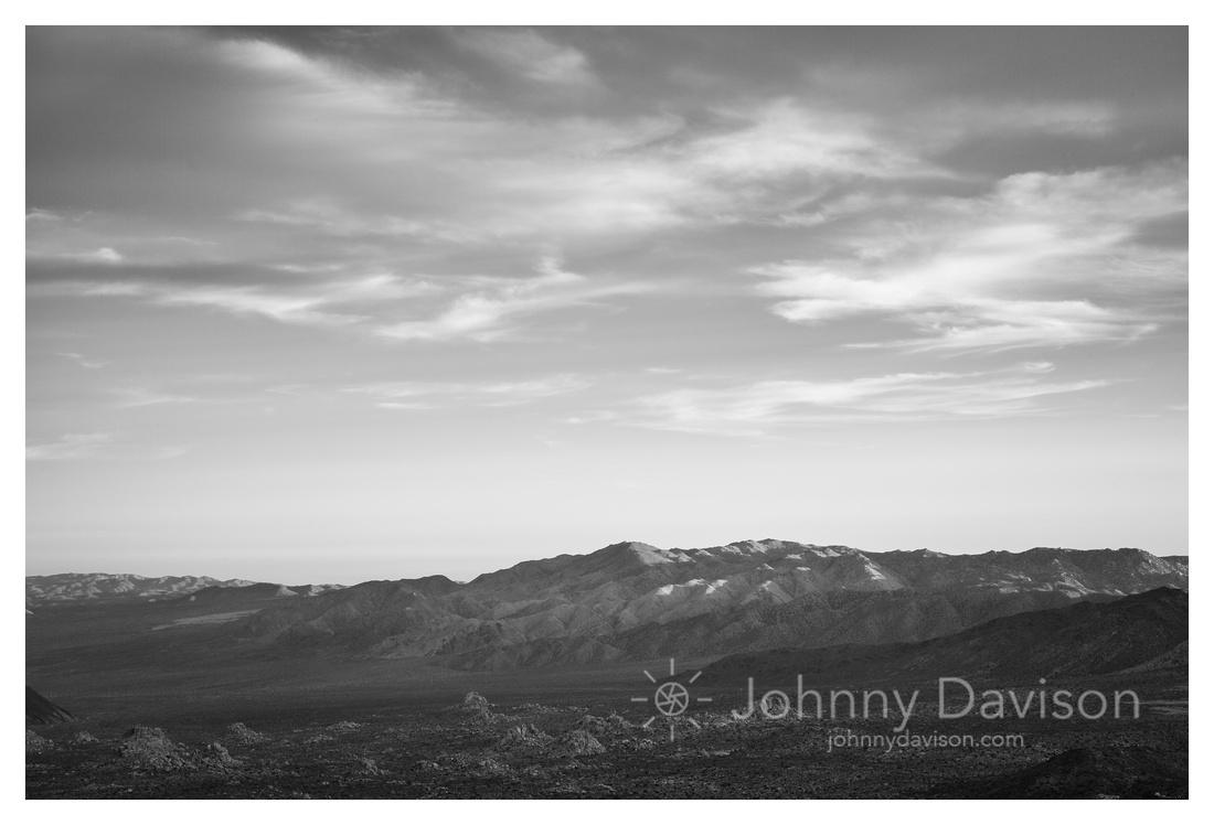 Evening Light, Ridges, From Ryan Mountain, Joshua Tree National Park, CA