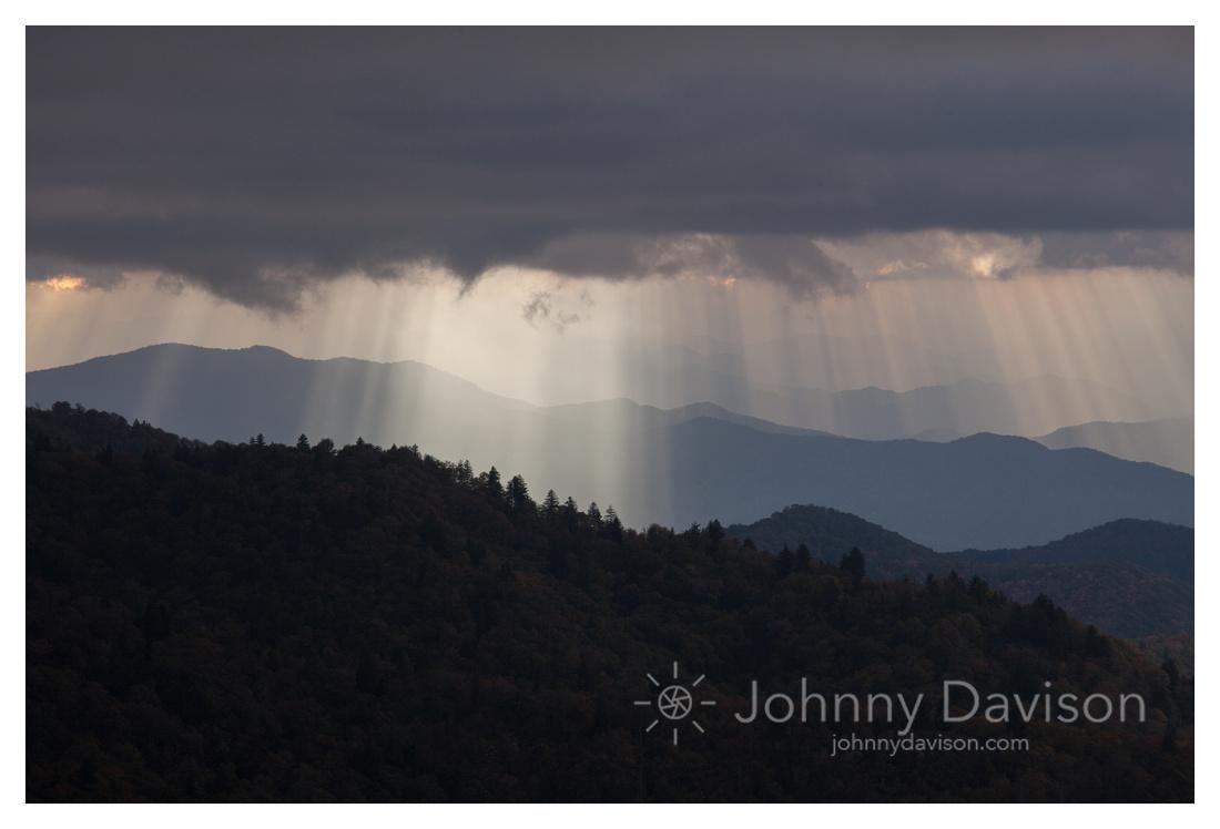Light Rays III, from Waterrock Knob, Blue Ridge Parkway, NC