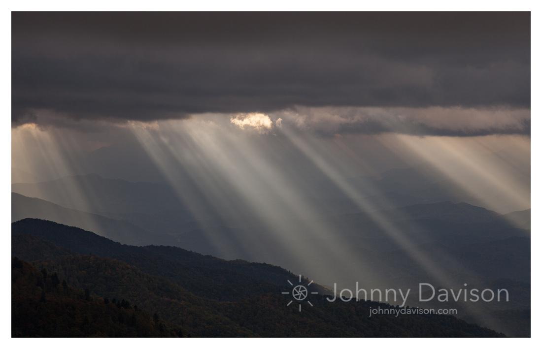 Light Rays, from Waterrock Knob, Blue Ridge Parkway, NC