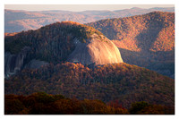 Looking Glass Rock, Fall, Sunset, Pisgah National Forest, NC