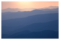 Sunset, Ridges of the Smokies, From Waterrock Knob, Blue Ridge Parkway, NC