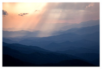 Light Rays, Nantahala and Great Smoky Mountain National Park, From Waterrock Knob, Blue Ridge Parkway, NC