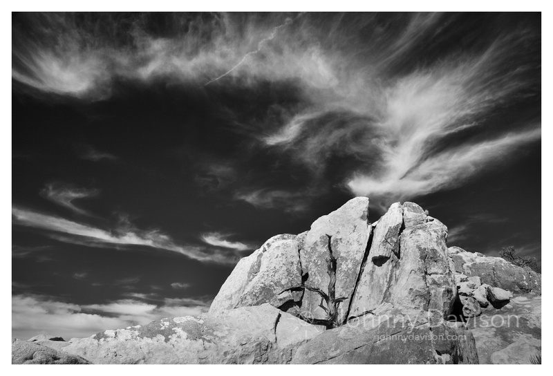 Boulders, Clouds, Wonderland of Rocks Wilderness, Joshua Tree National Park, CA