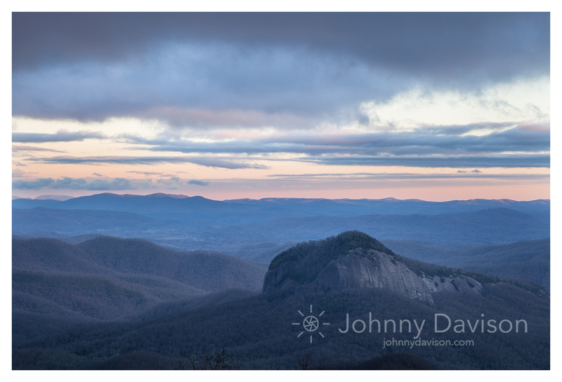 Looking Glass Rock, Sunset, Pisgah National Forest, NC