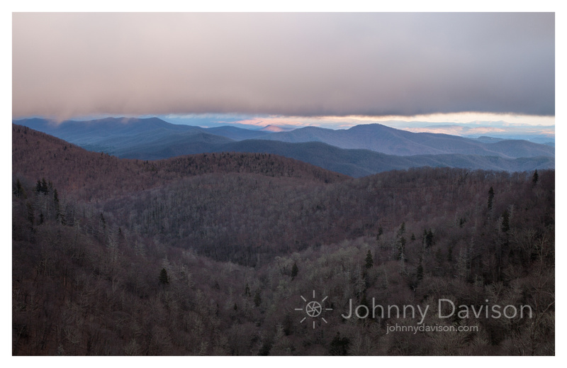 Cloud Cover, Sunset, Winter, Blue Ridge Parkway, NC