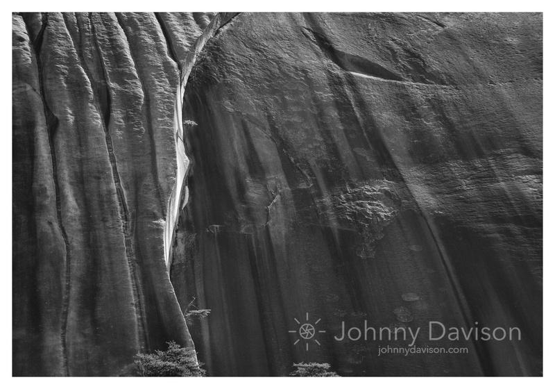 Crack, Stone Mountain, Morning, Stone Mountain State Park, NC