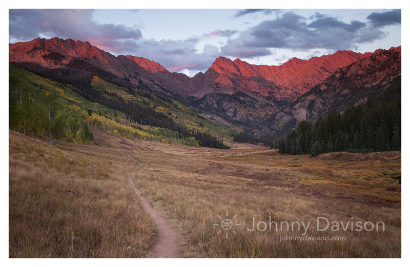 Mt. Powell, Sunset, Fall Color, Eagles Nest Wilderness, White River National Forest, CO