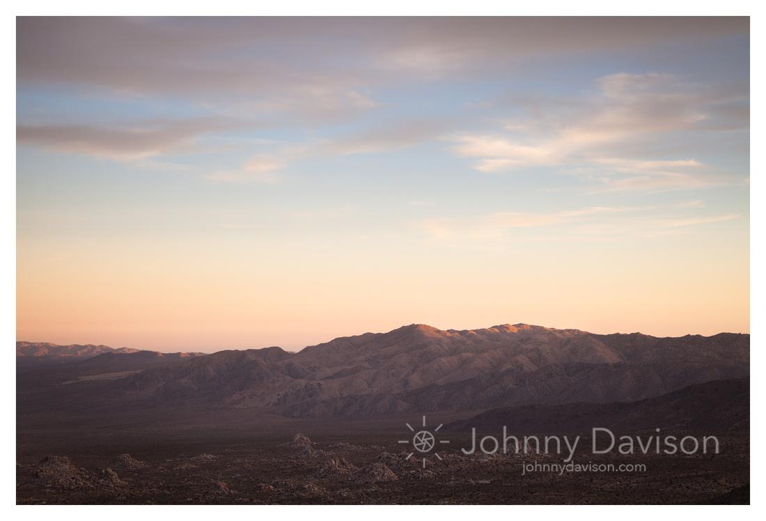 Evening Light, Ridges, Joshua Tree National Park, CA