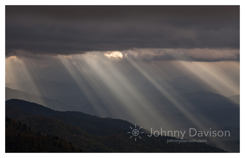 Light Rays, from Waterrock Knob, Blue Ridge Parkway, NC