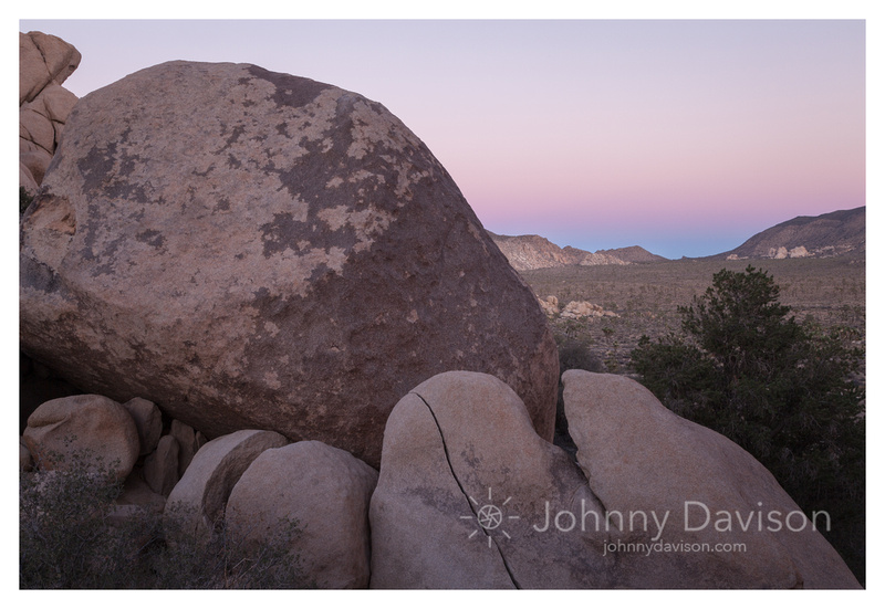 Sunset, Boulders, From Hidden Valley, Joshua Tree National Park, CA
