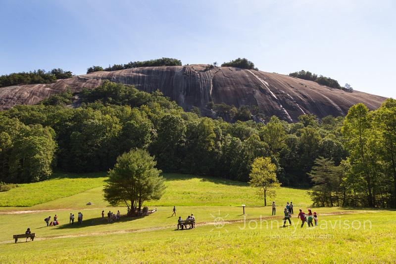 Park Visitors, Stone Mountain, Morning, Stone Mountain State Park, NC